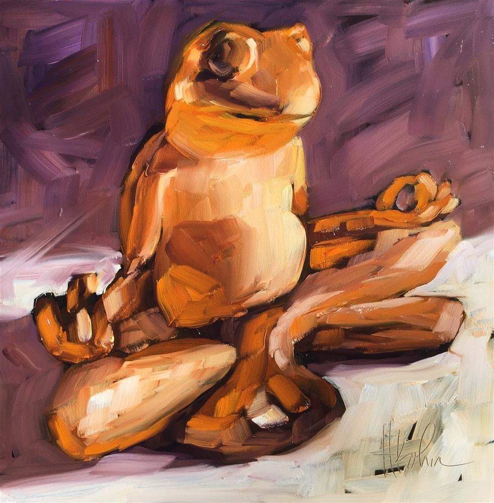 """Buddha Frog"" original fine art by Hallie Kohn"
