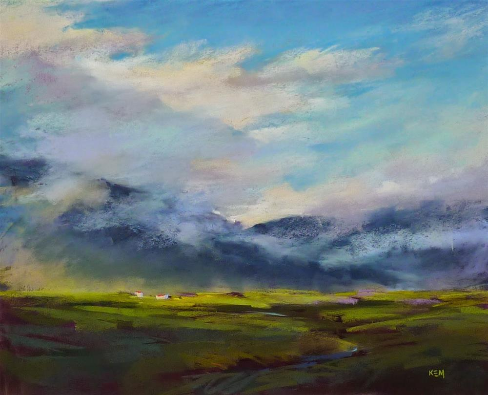 """Iceland: Through an Artist's Eyes  Part 11 A Skywatcher's Dream"" original fine art by Karen Margulis"
