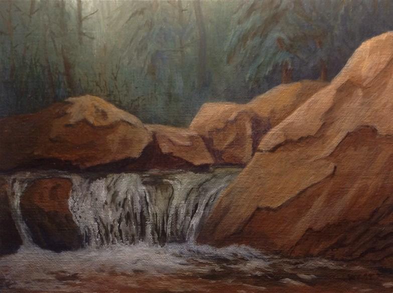 """Rockslide Creek"" original fine art by James West"