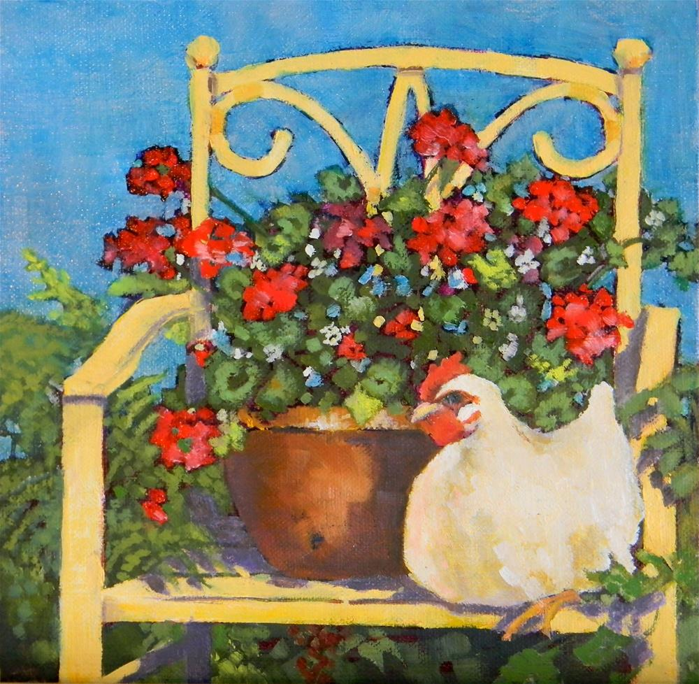 """Gran's Yellow Chair"" original fine art by De Selby"