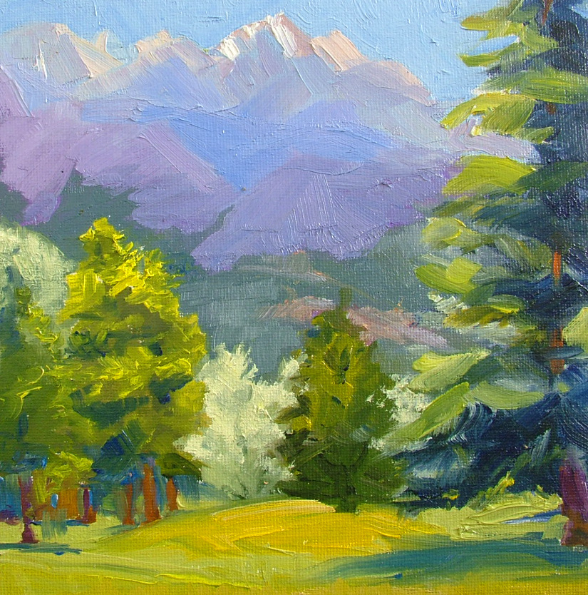 """Purple Mountains Majesty"" original fine art by Nancy Paris Pruden"