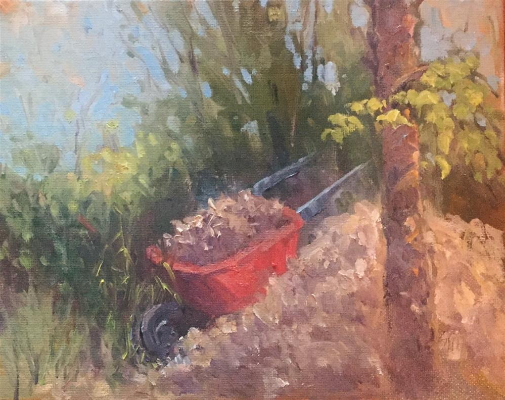 """Evening Toil"" original fine art by Connie Snipes"
