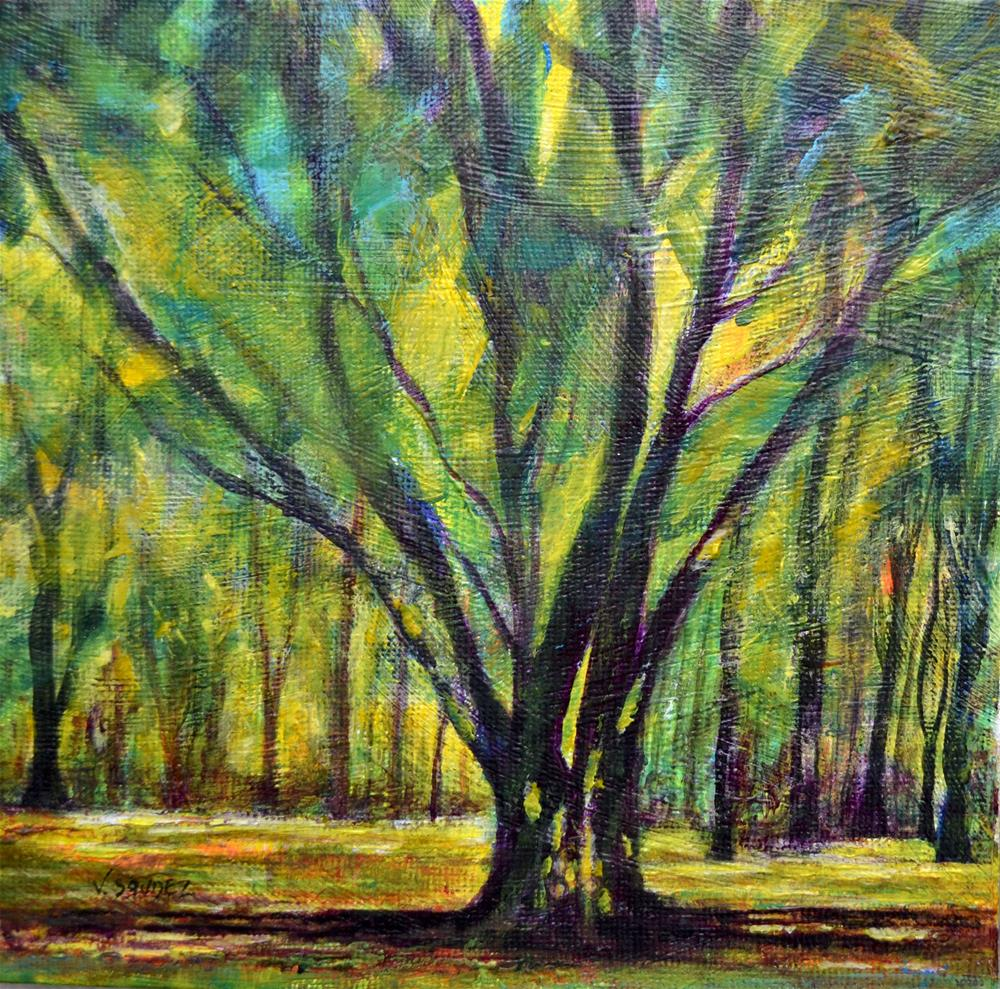 """Undergrowth"" original fine art by Véronique Saudez"