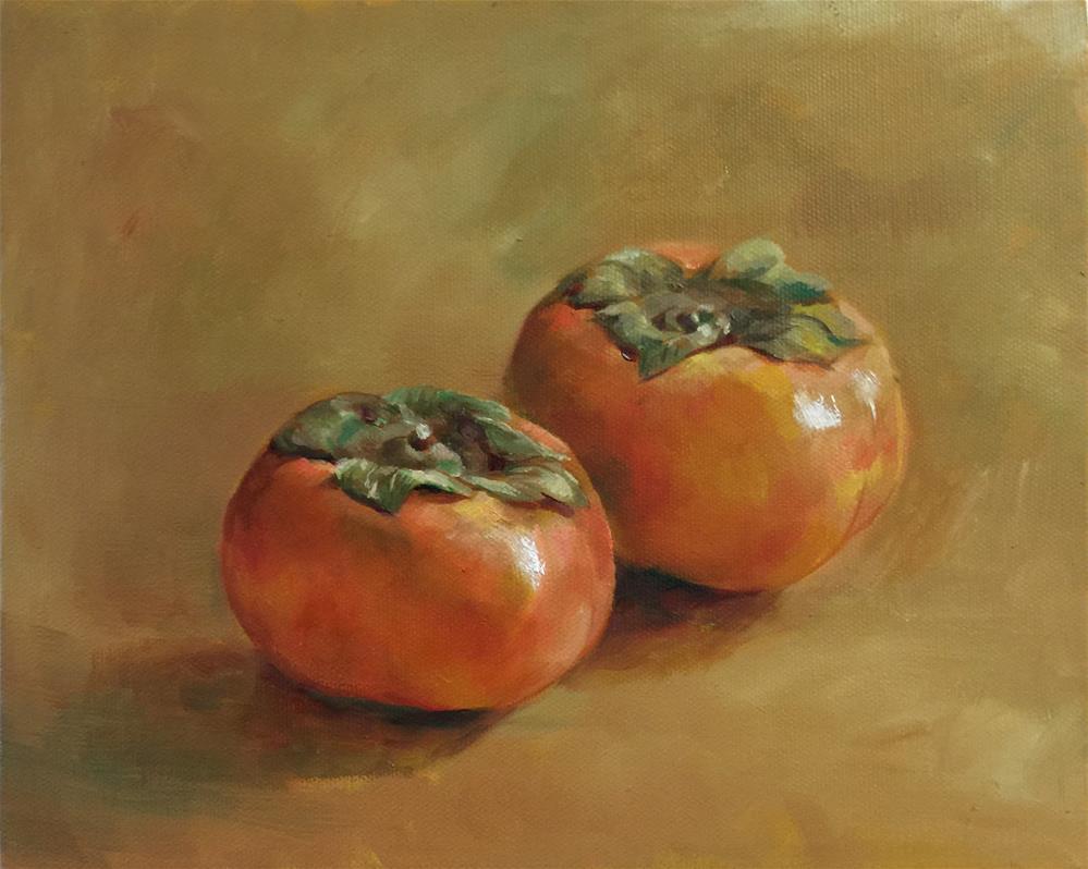 """persimmon"" original fine art by Joy Cai"