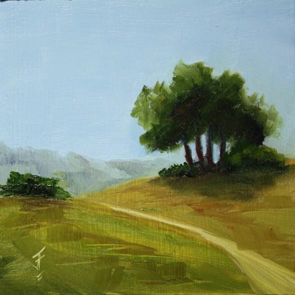 """""""A Ways to Go"""" original fine art by Jane Frederick"""