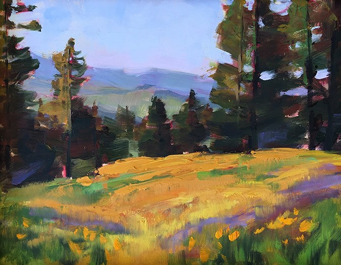 """Mount Figueroa"" original fine art by Deborah Newman"