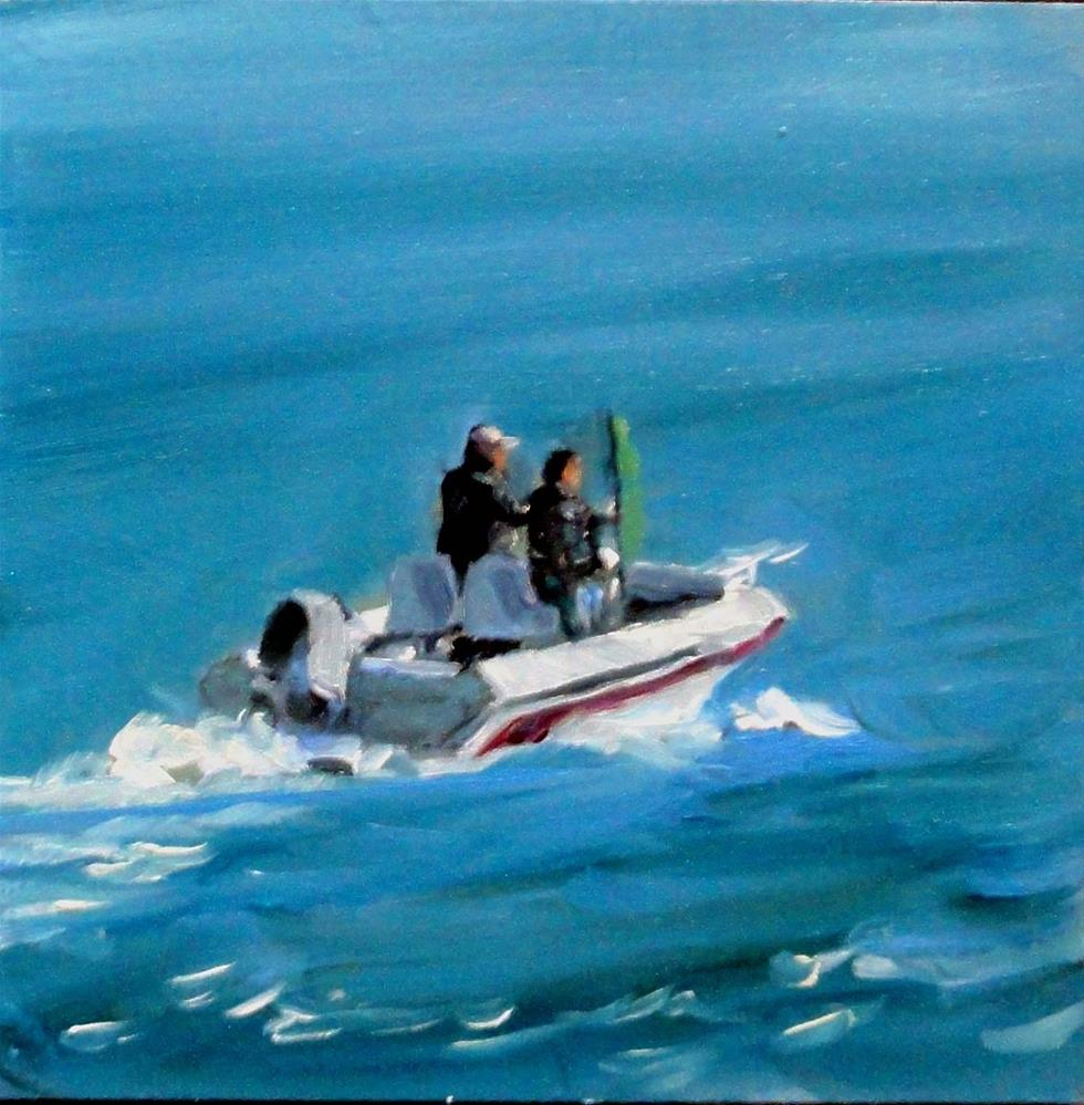 """Gone Fishing"" original fine art by Cietha Wilson"