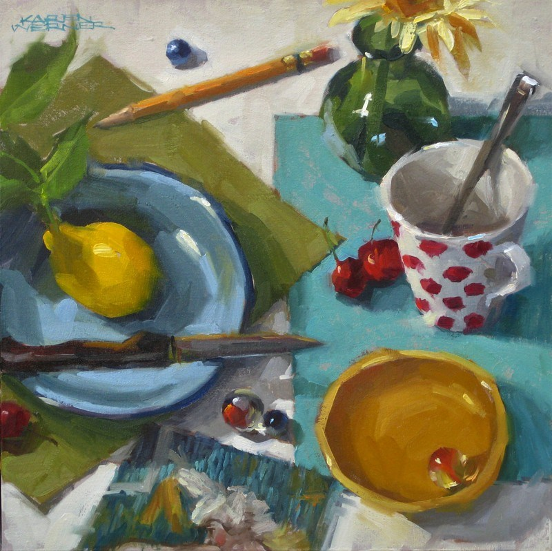 """Conglomeration"" original fine art by Karen Werner"