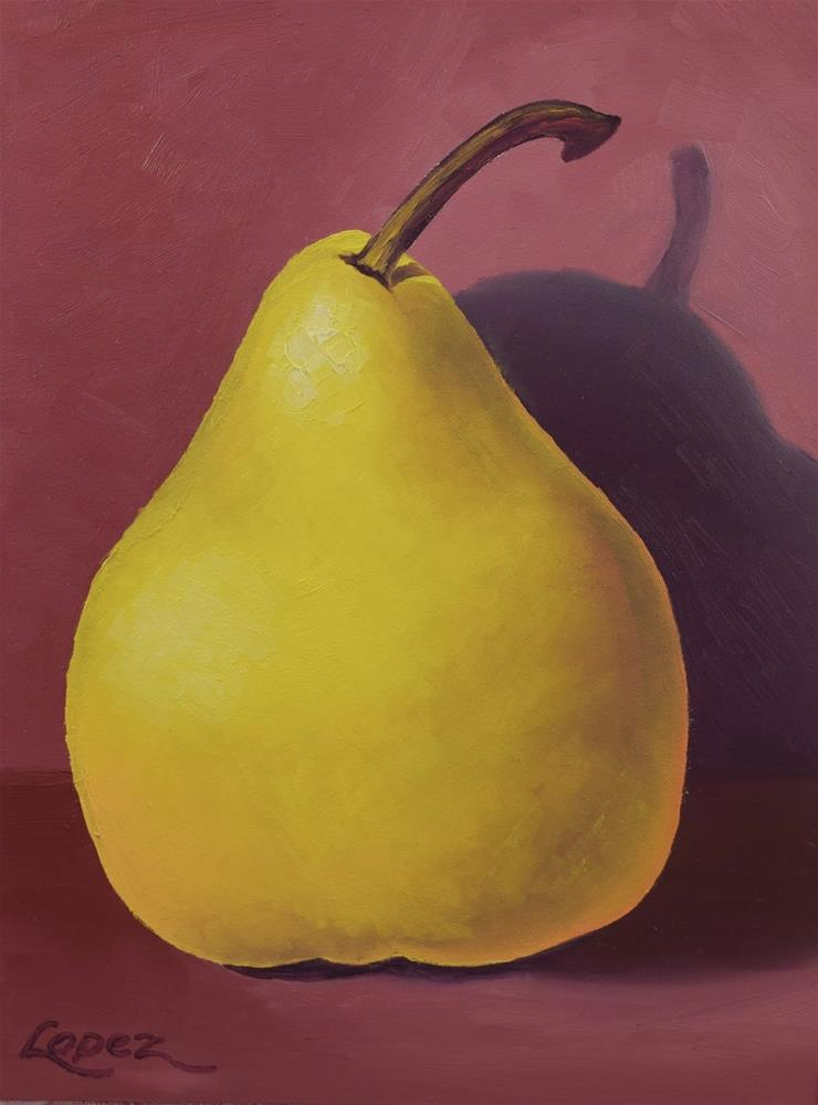 """5. Single Pear"" original fine art by Gema Lopez"