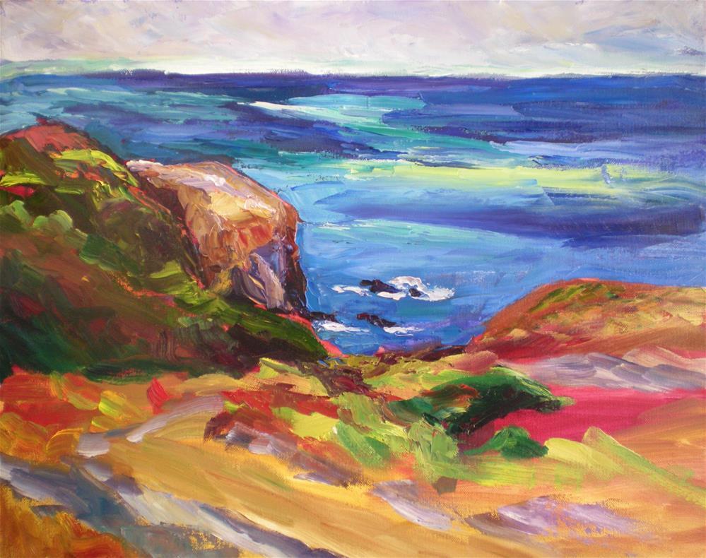 """Marin Headlands"" original fine art by Loralee Chapleau"