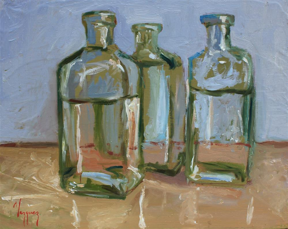 """Bottles"" original fine art by Marco Vazquez"