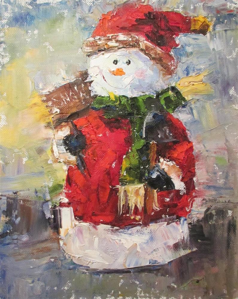 """The Man of the Season"" original fine art by Linda Carney"
