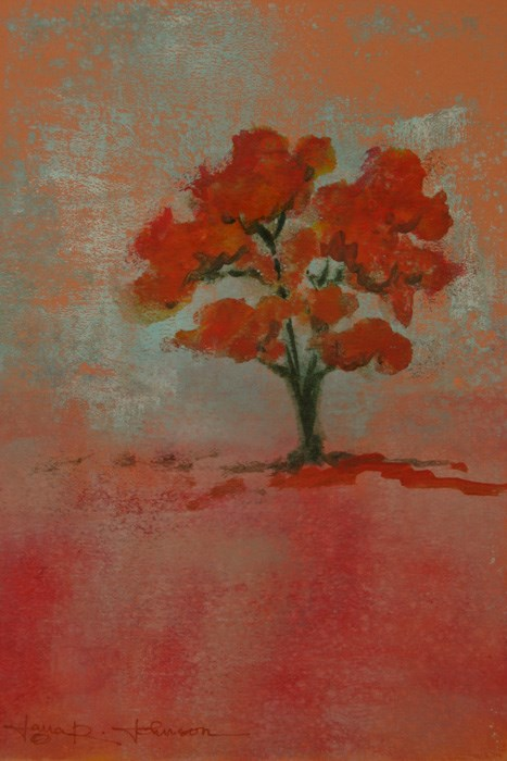 """Orange Tree 2"" original fine art by Jana Johnson"