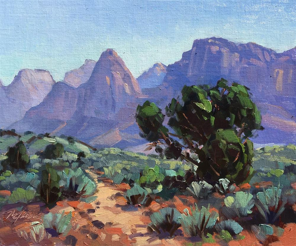 """Zion Shadows"" original fine art by Mary Jabens"