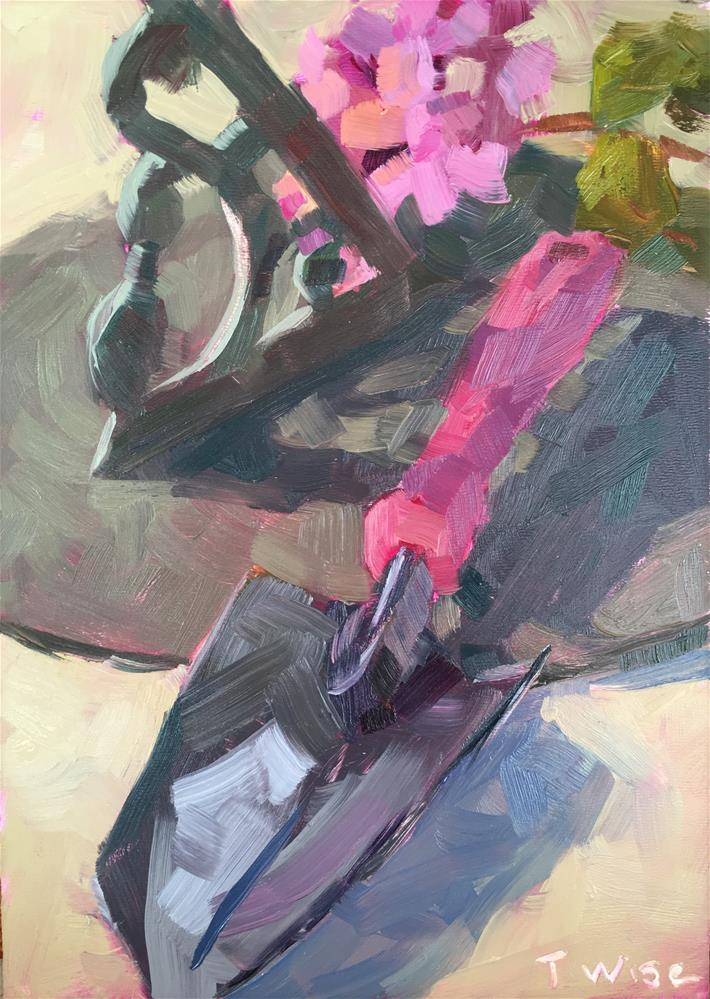 """Sundial Garden"" original fine art by Tracy Wise"
