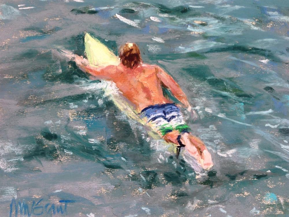 """Paddling Out"" original fine art by Michelle Wells Grant"