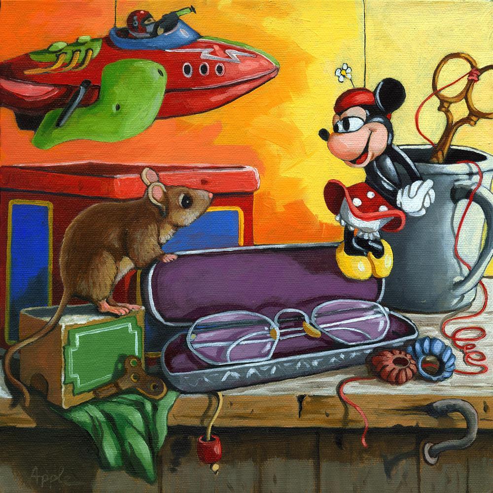 """Love in the Attic"" original fine art by Linda Apple"
