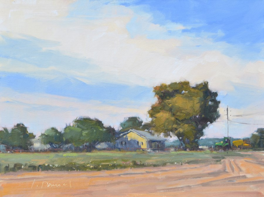 """Cotton Field Homestead - En Plein Air Texas!"" original fine art by Laurel Daniel"