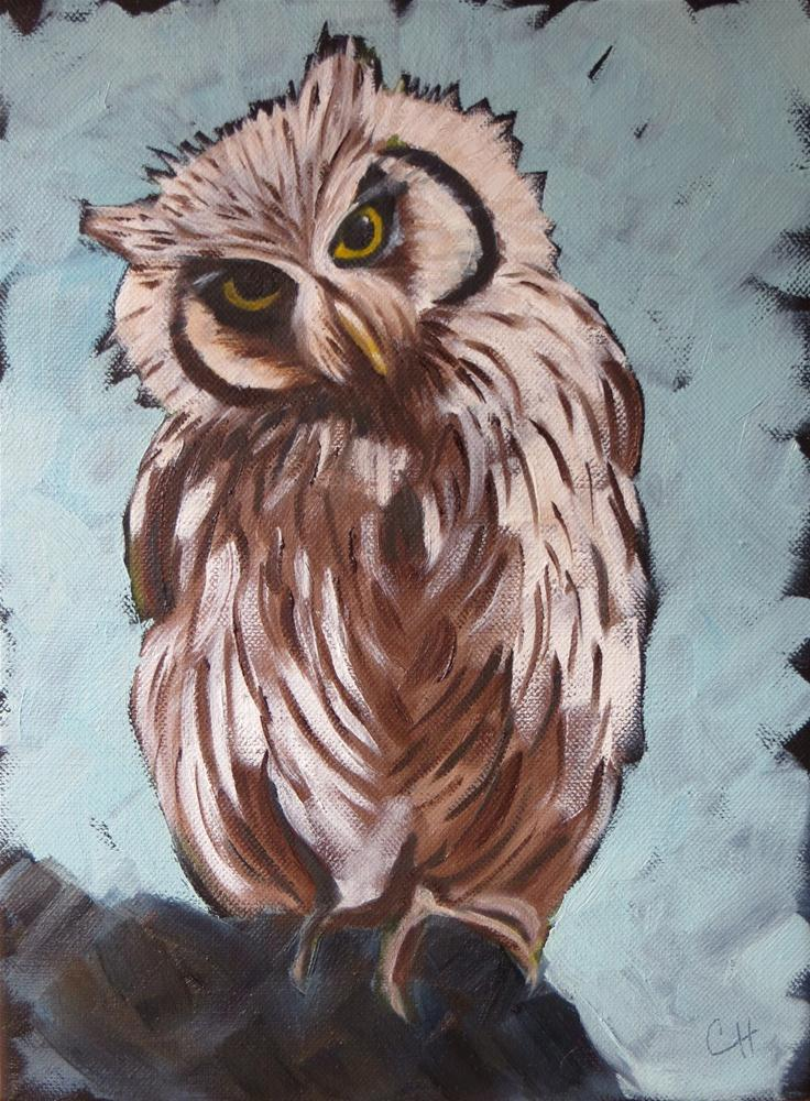 """Whoo Me?"" original fine art by Claire Henning"