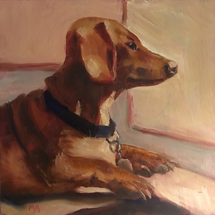 """Oscar"" original fine art by Maria McNitt"