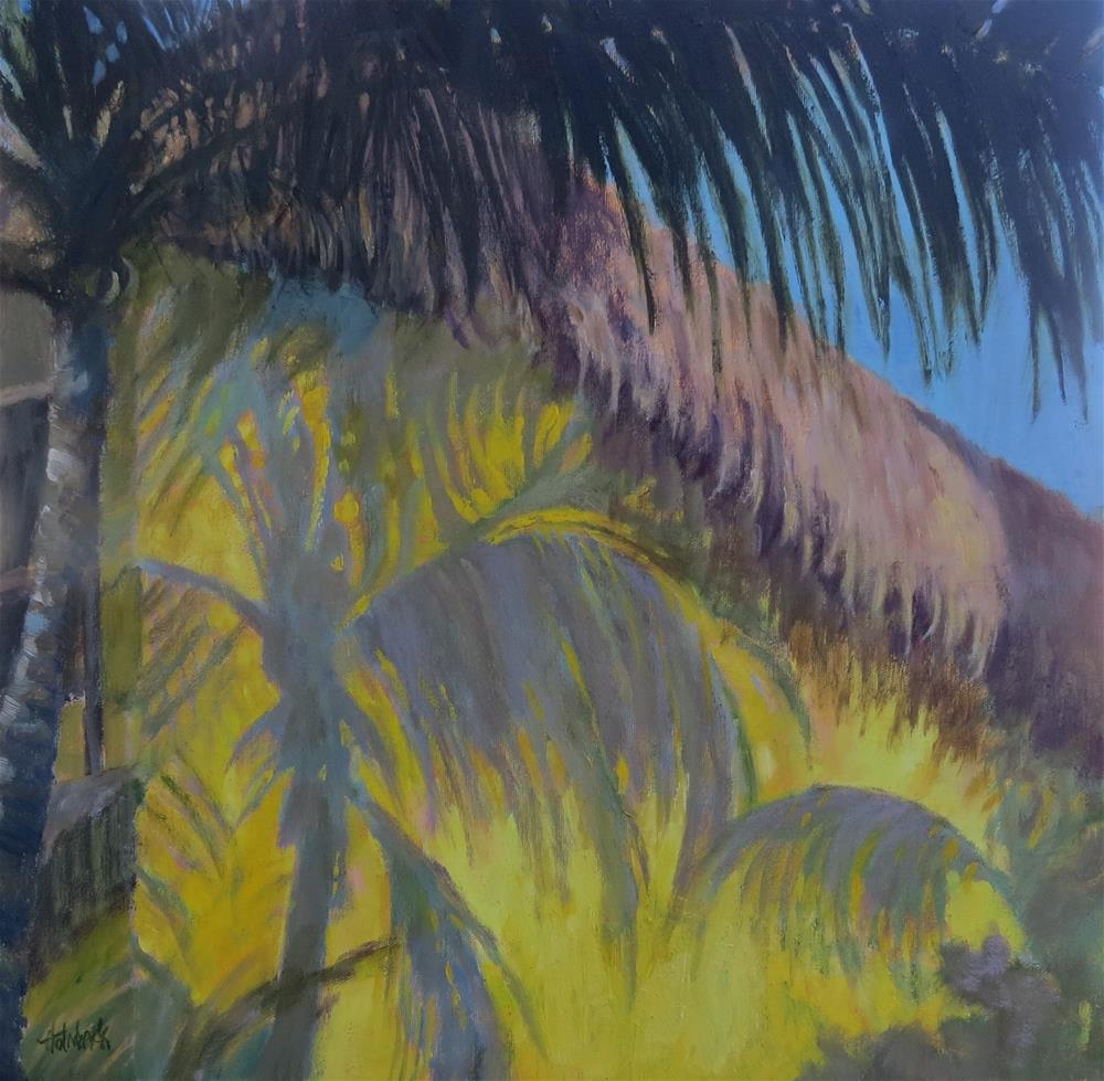 """Tropical Shadow"" original fine art by Pam Holnback"