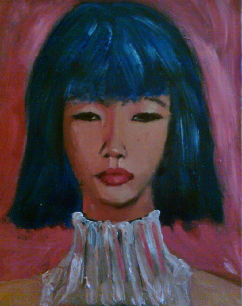 """Natasha"" original fine art by Gerri Obrecht"
