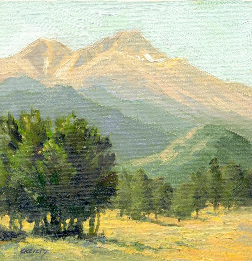 """Longs Peak View"" original fine art by Kath Reilly"