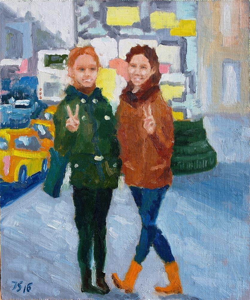 """2 girls"" original fine art by Yuriy Semyonov"