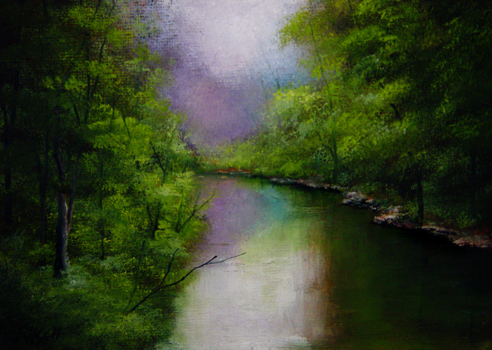 """Mirror Lake"" original fine art by Bob Kimball"