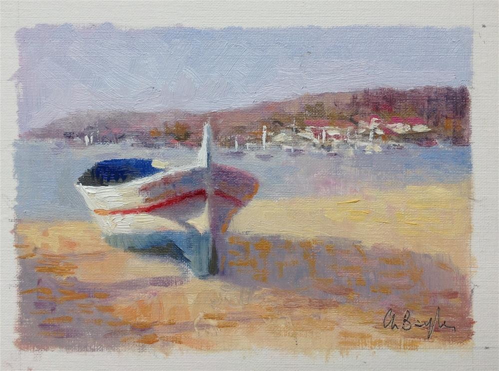 """Morning sun in Cadaques"" original fine art by Christine Bayle"