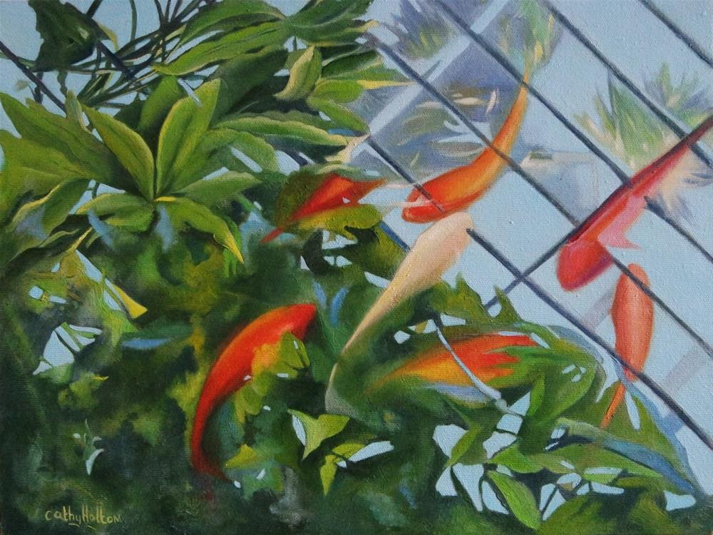 """Little Fish"" original fine art by Cathy Holtom"