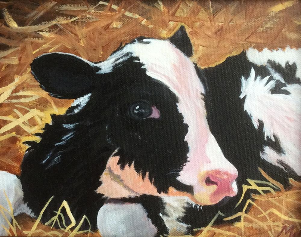 """New Calf"" original fine art by Michelle Wolfe"