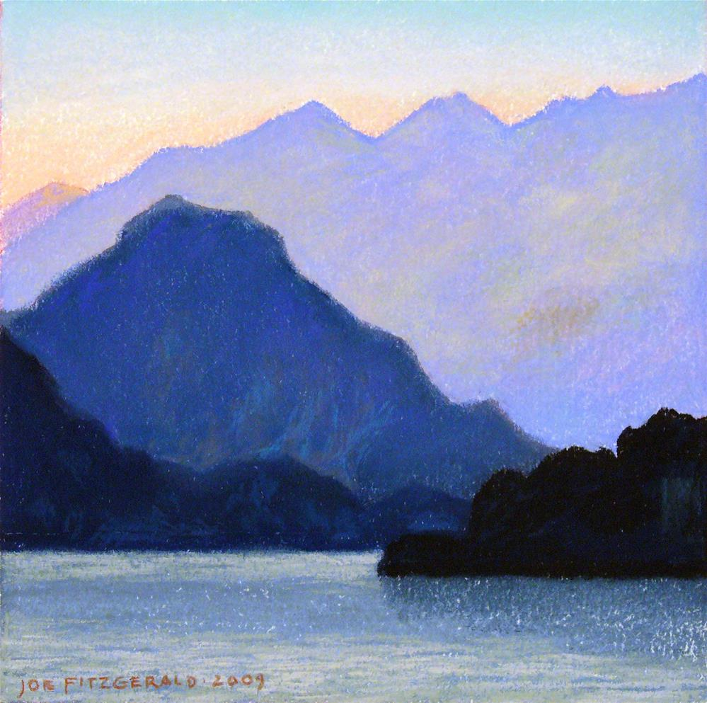 """Lake Maggiori I"" original fine art by Joe Fitzgerald"