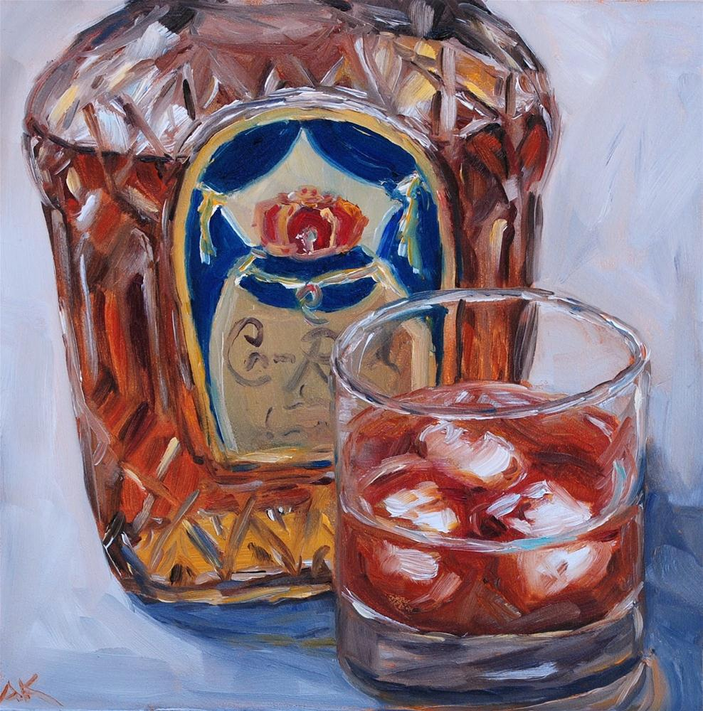"""Crown Royal"" original fine art by Alison Kolkebeck"