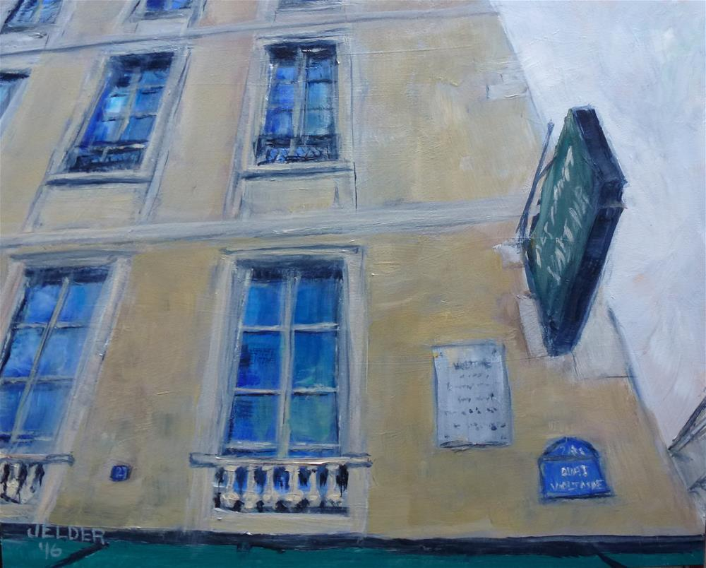 """Voltaire, Paris No. 102"" original fine art by Judith Elder"