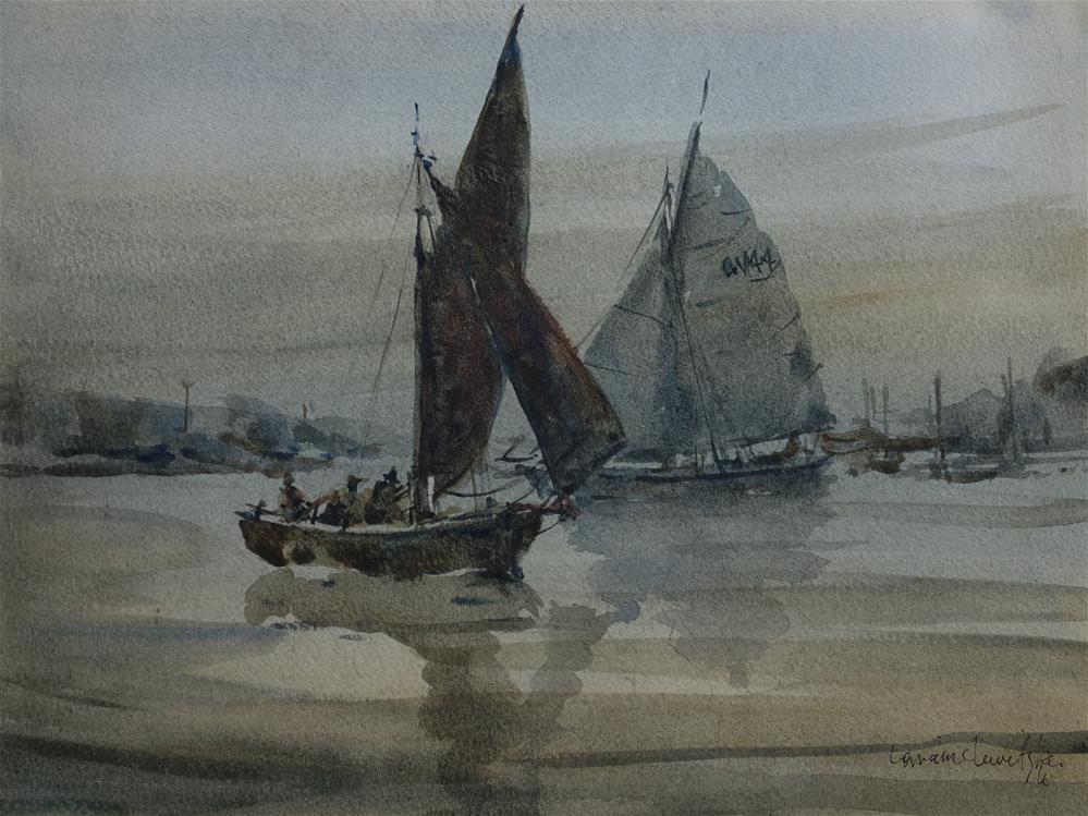 """""""Grey morning"""" original fine art by Lorraine Lewitzka"""