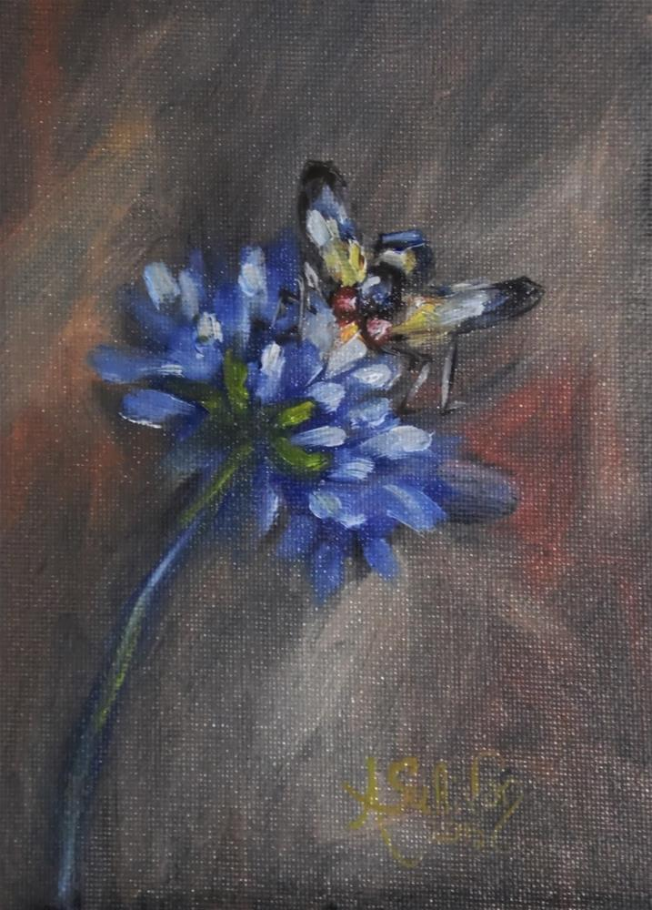 """Bugged Out floral painting by Alabama Artist Angela Sullivan"" original fine art by Angela Sullivan"