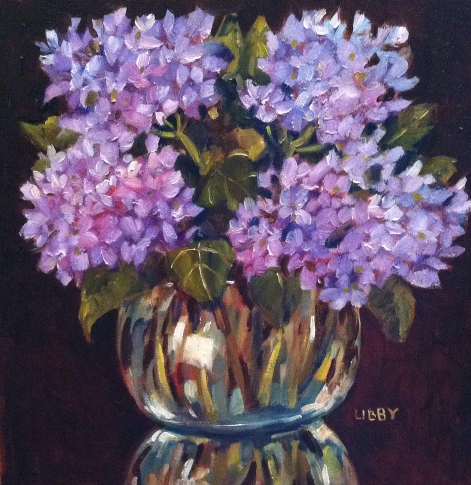 """Floral Reflection"" original fine art by Libby Anderson"