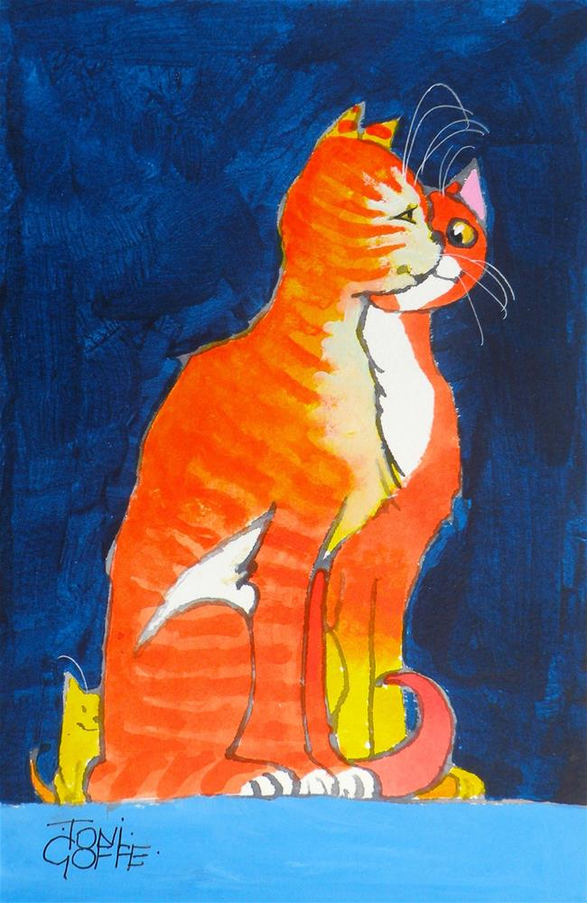 """Have You Seen Our Kitten ?"" original fine art by Toni Goffe"