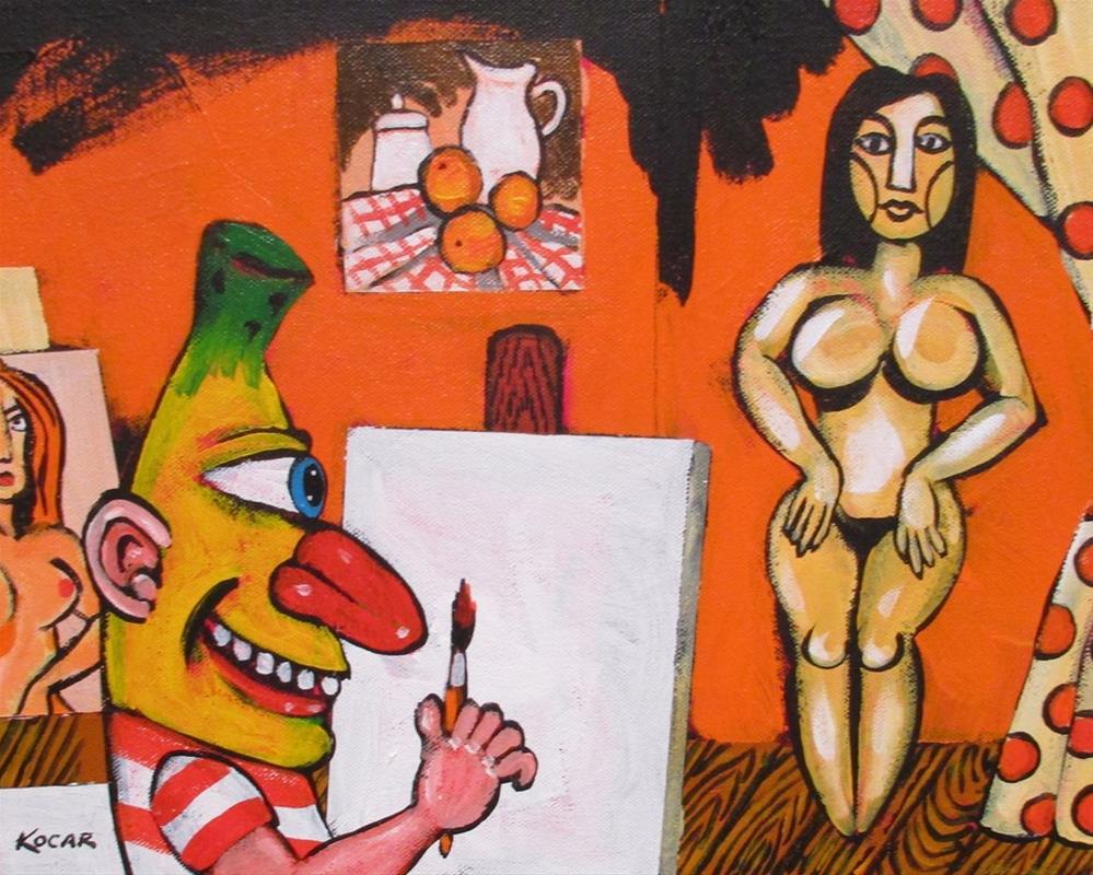"""Pablo Banana's Orange Studio"" original fine art by George Kocar"