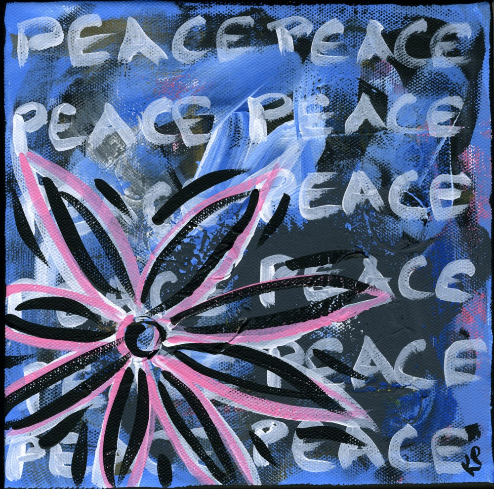 """PEACE"" original fine art by Kali Parsons"