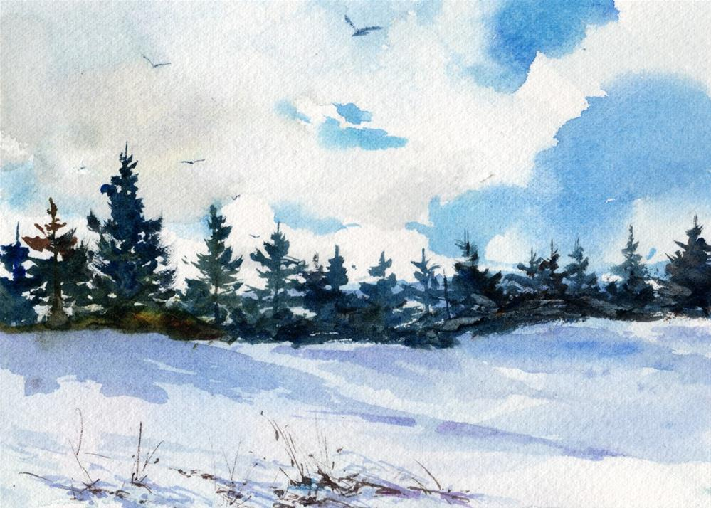 """Ski Country"" original fine art by Linda Henry"