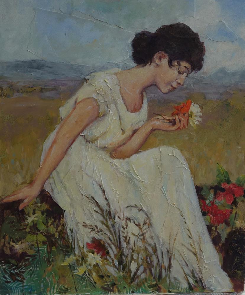 """Still Morning- Vintage"" original fine art by Lorraine Lewitzka"