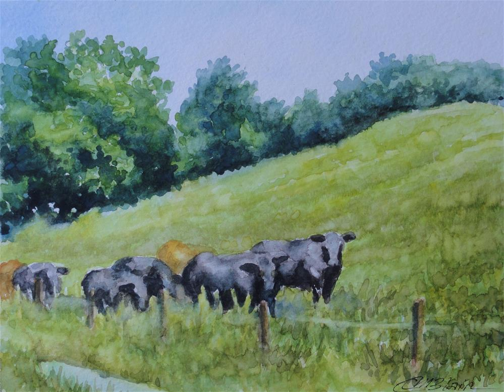"""Summer Pasture"" original fine art by Christine Blain"
