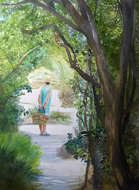"""To The Beach"" original fine art by Patti Adams"