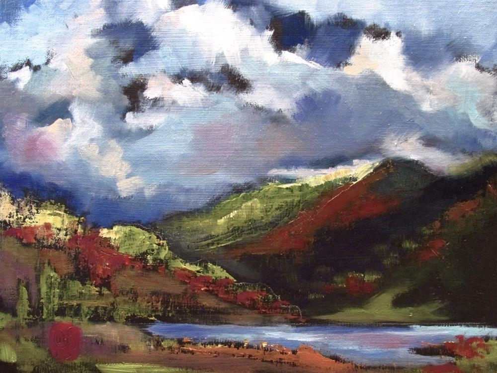"""Chasing the Valley"" original fine art by Aurelio Saiz"