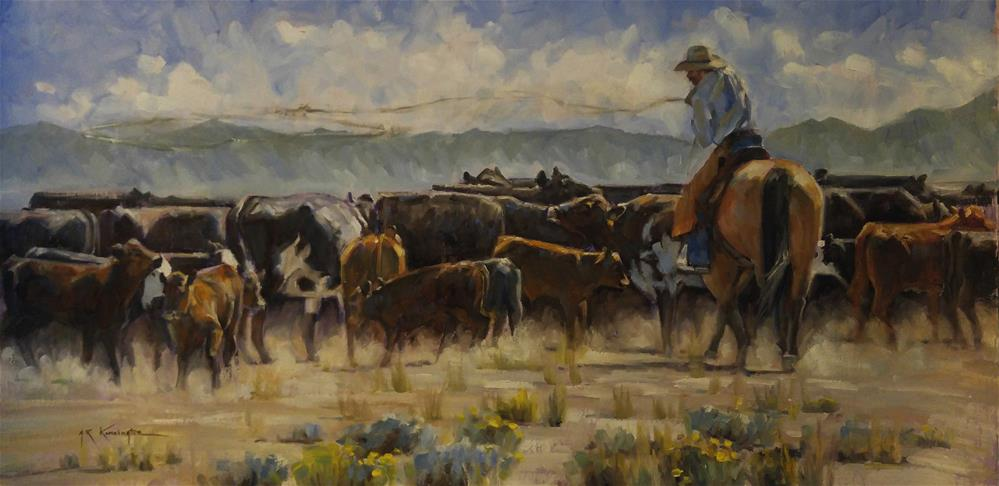"""Another Days Work"" original fine art by Rick Kennington"