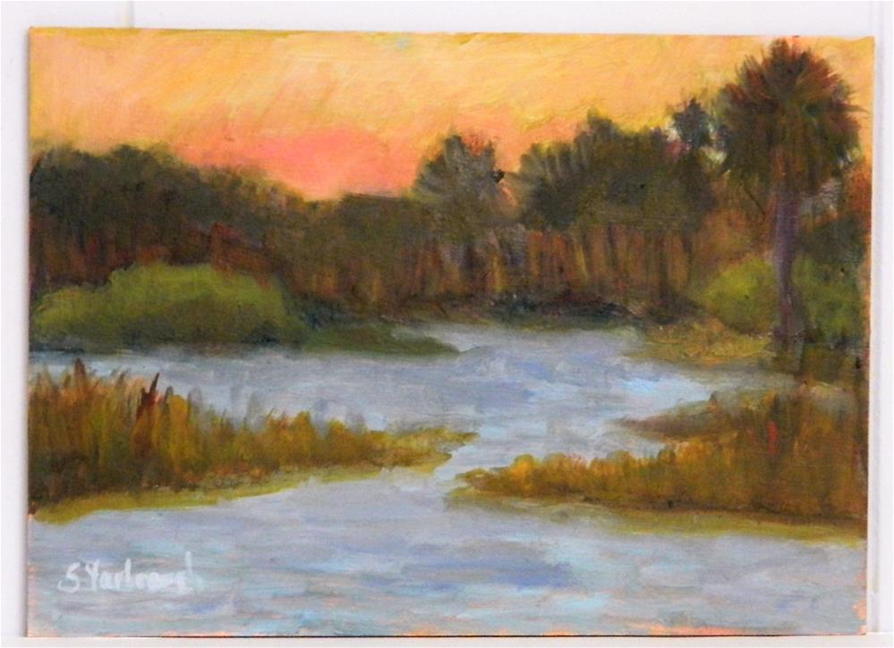"""Serenity at Babcock Ranch"" original fine art by Sharon Yarbrough"
