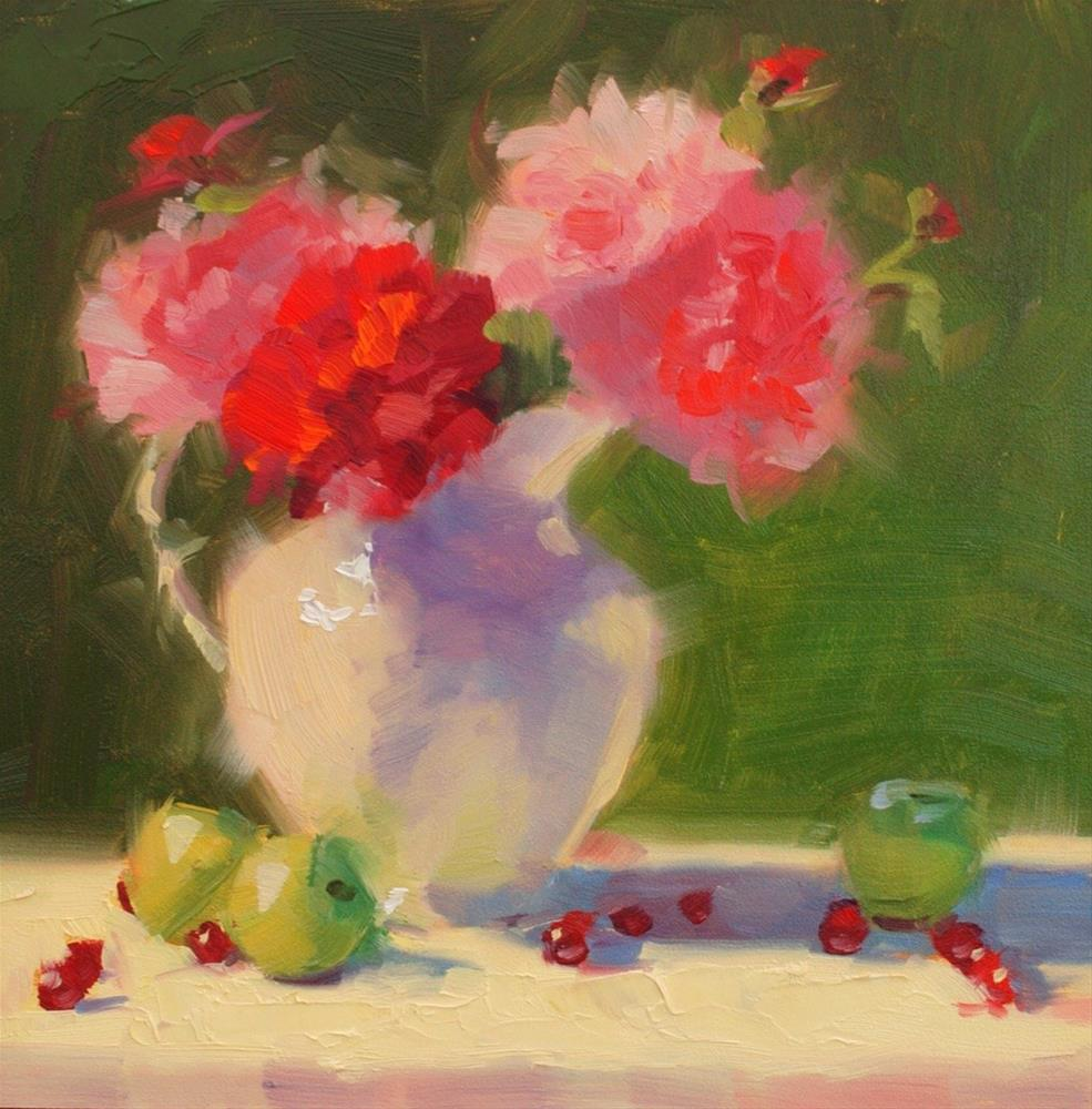 """No. 631 A Summer Afternoon with Peonies"" original fine art by Susan McManamen"