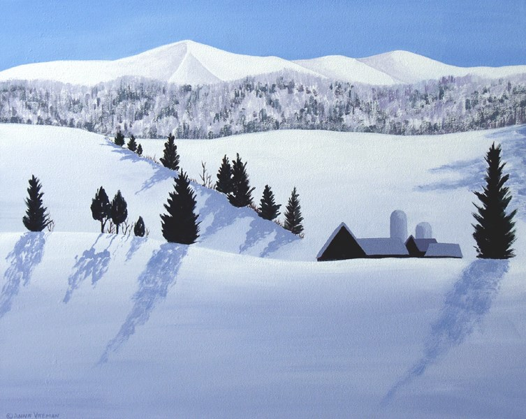 """Snowbound Farm"" original fine art by Anna Vreman"